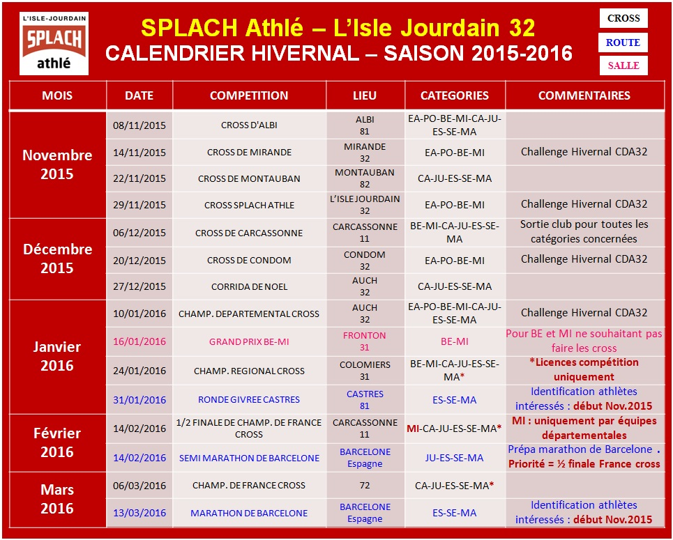 Calendrier-Hivernal_SPLACH-Athle_2015-2016